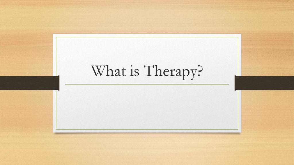 terapi nedir